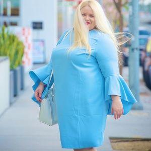 Designer style Blue dress